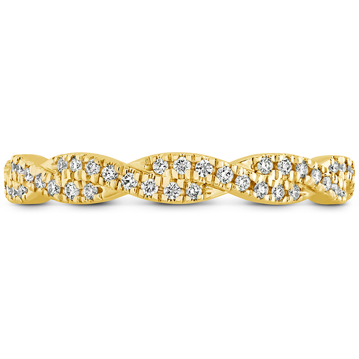 0.29 ctw. Harley Go Boldly Braided Eternity Power Band in 18K Yellow Gold