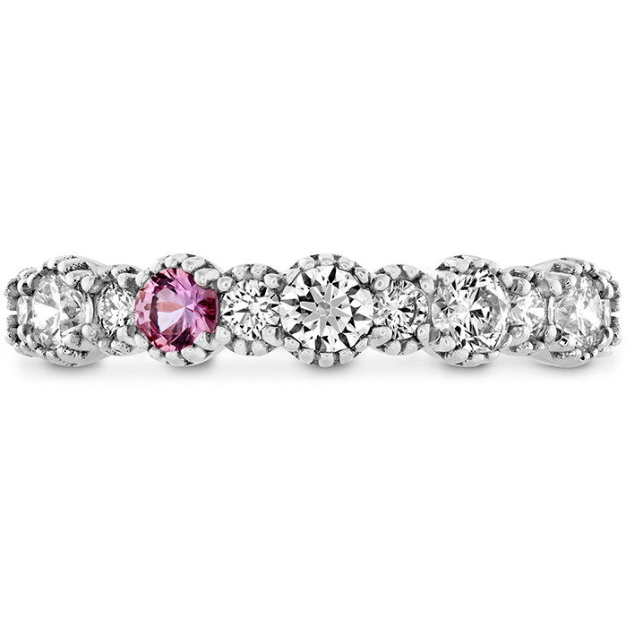 0.57 ctw. Behati Beaded Band with Sapphires in 18K White Gold