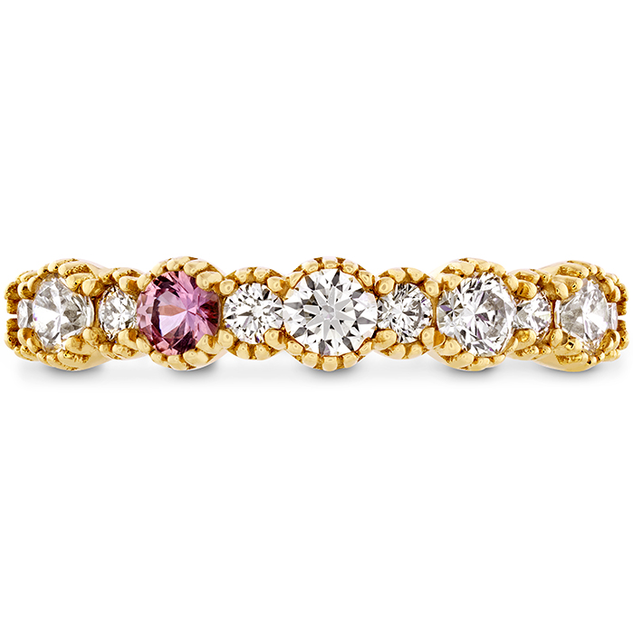 0.57 ctw. Behati Beaded Band with Sapphires in 18K Yellow Gold