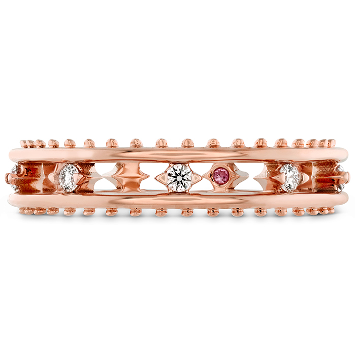 0.15 ctw. Sloane Picot Floating Diamond Band in 18K Rose Gold