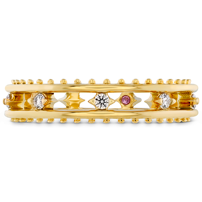 0.15 ctw. Sloane Picot Floating Diamond Band in 18K Yellow Gold