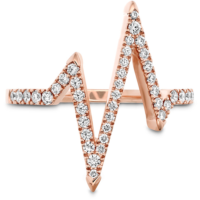 0.31 ctw. Love Code Heartbeat Diamond Band in 18K Rose Gold