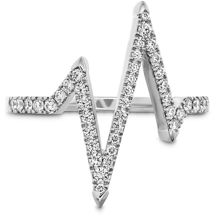 0.31 ctw. Love Code Heartbeat Diamond Band in 18K White Gold