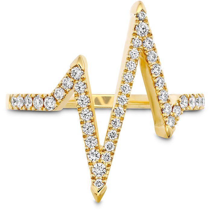 0.31 ctw. Love Code Heartbeat Diamond Band in 18K Yellow Gold