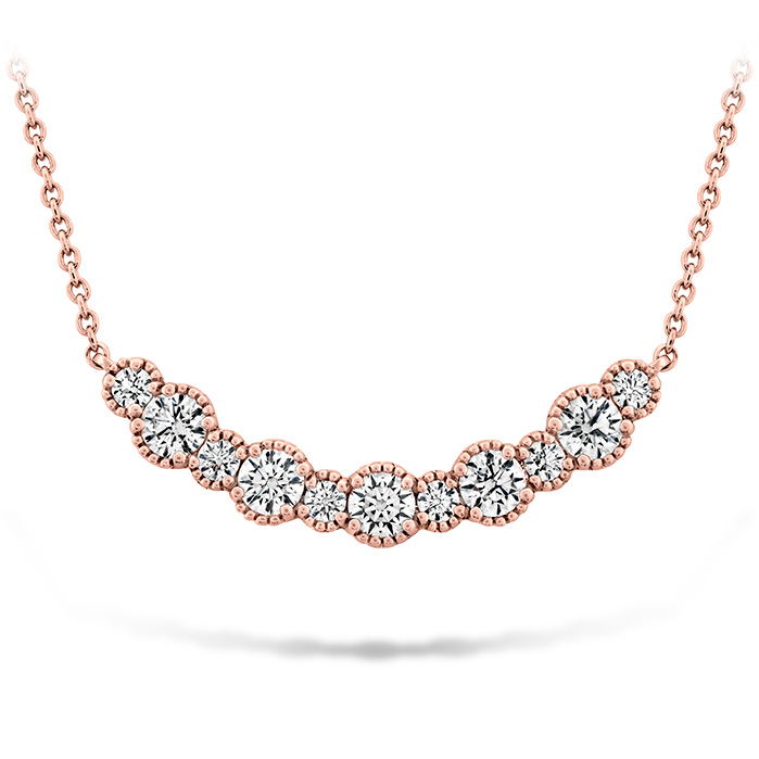 0.86 ctw. Behati Beaded Pendant - Medium in 18K Rose Gold
