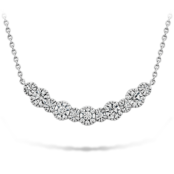 0.86 ctw. Behati Beaded Pendant - Medium in 18K White Gold