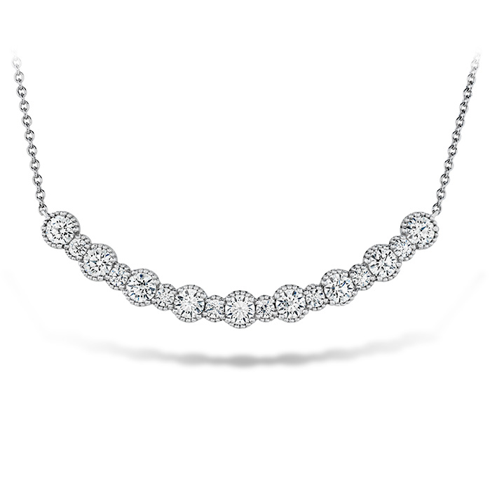 1.45 ctw. Behati Beaded Pendant - Large in 18K White Gold