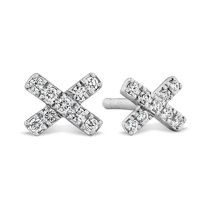 0.08 ctw. Harley X-OH Studs in 18K White Gold