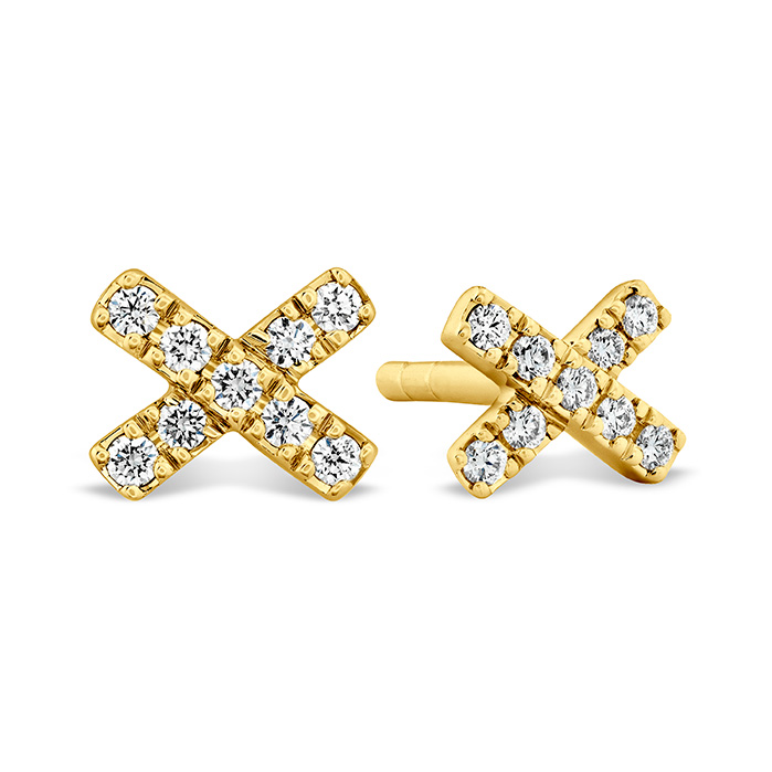 0.2 ctw. Harley X-OH Studs in 18K Yellow Gold