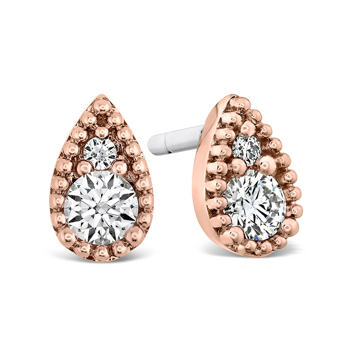 0.29 ctw. Behati Beaded Studs in 18K Rose Gold