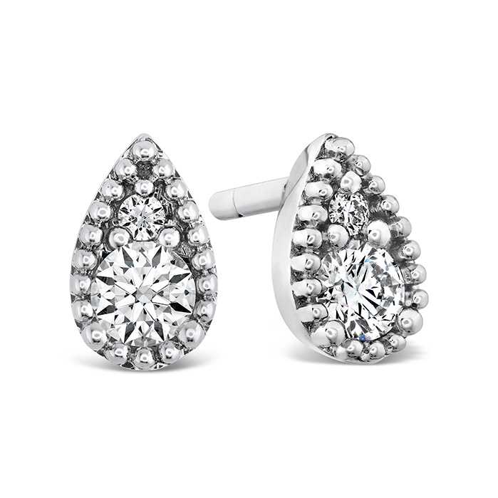 0.13 ctw. Behati Beaded Studs in 18K White Gold