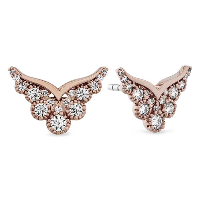 0.41 ctw. Behati Silhouette Power Earring Studs in 18K Rose Gold