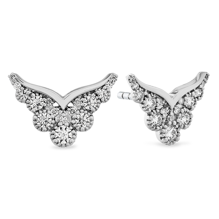 0.41 ctw. Behati Silhouette Power Earring Studs in 18K White Gold