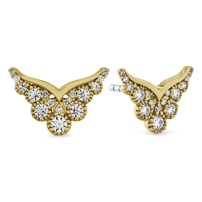 0.41 ctw. Behati Silhouette Power Earring Studs in 18K Yellow Gold