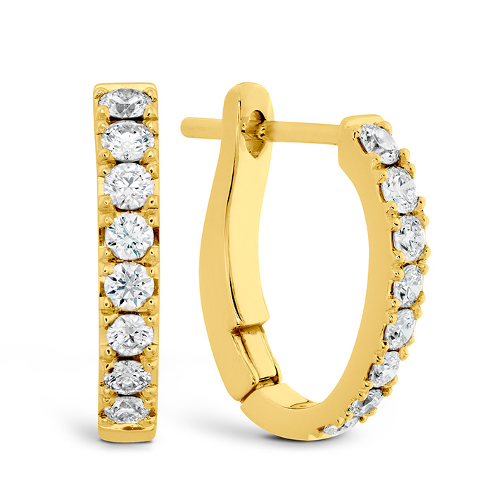 0.3 ctw. Mini Hoop Graduated Earrings in 18K Yellow Gold