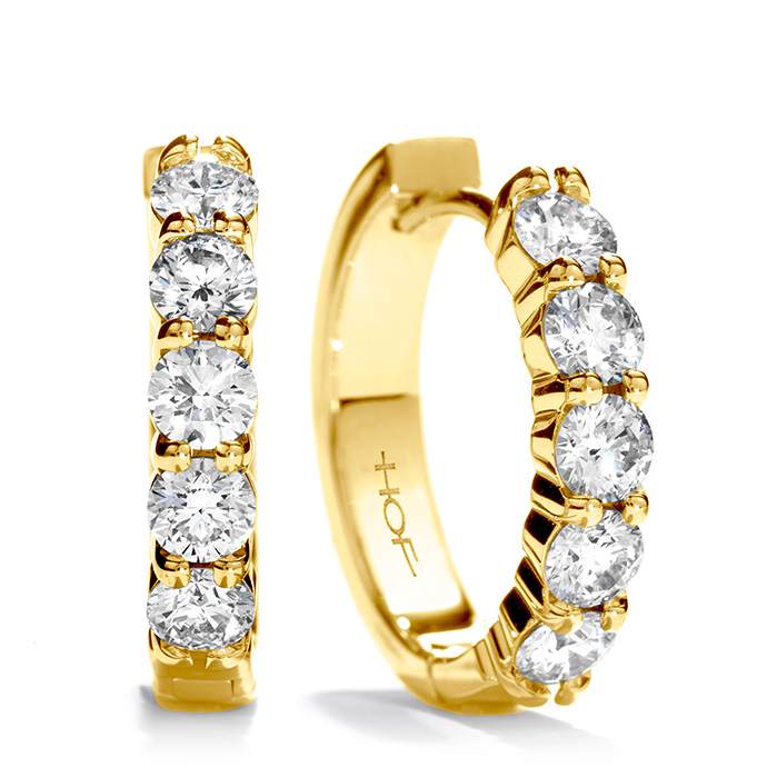 1.3 ctw. Small Mini Hoop Earrings in 18K Yellow Gold