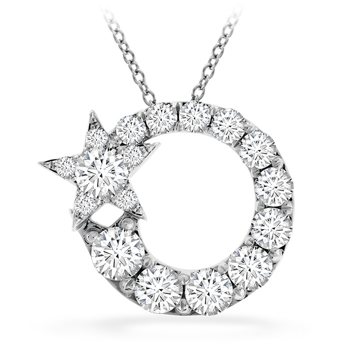 0.9 ctw. Illa Circle Cluster Pendant in 18K White Gold