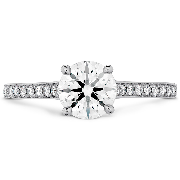 0.5 ctw. Illustrious Engagement Ring-Diamond Intensive Band in 18K White Gold
