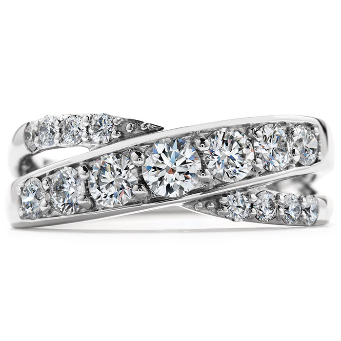 0.95 ctw. Intermingle Double Right Hand Ring in 18K White Gold