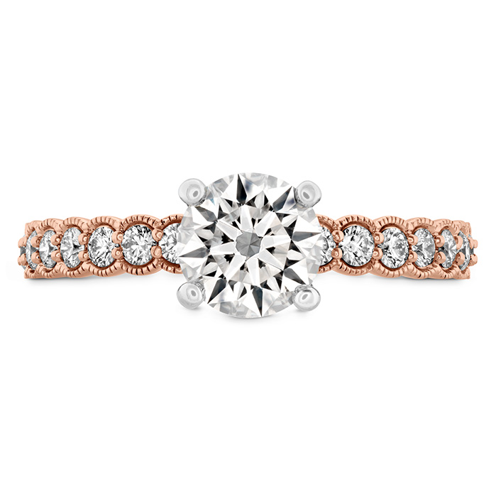 0.35 ctw. Isabelle Milgrain Engagement Ring in 18K Rose Gold