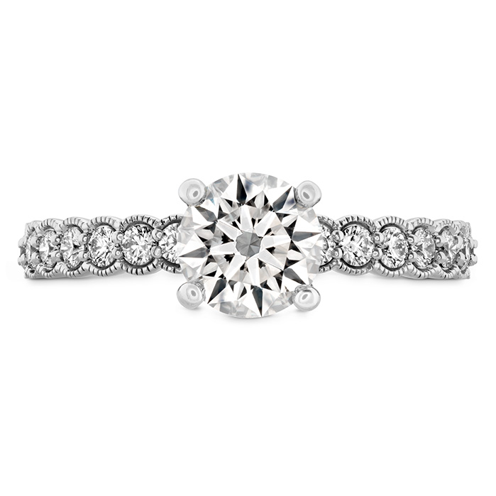 0.35 ctw. Isabelle Milgrain Engagement Ring in 18K White Gold