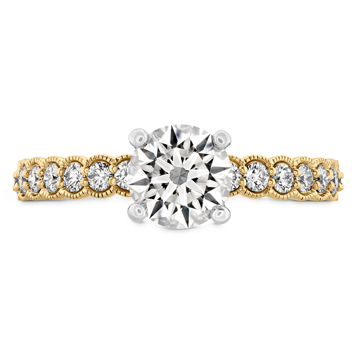 0.35 ctw. Isabelle Milgrain Engagement Ring in 18K Yellow Gold