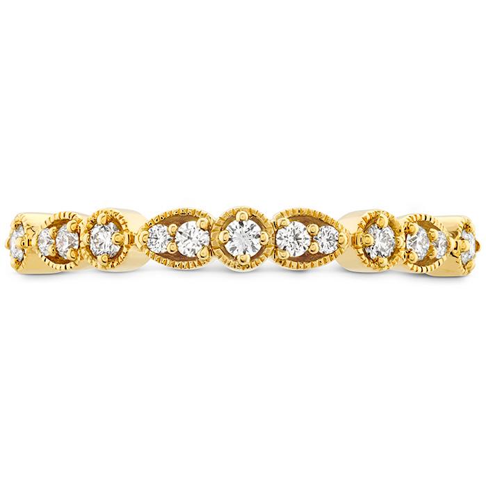 0.18 ctw. Isabelle Teardrop Milgrain Diamond Band in 18K Yellow Gold