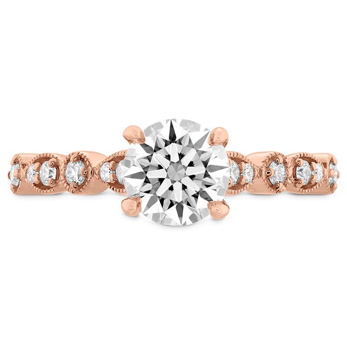 0.18 ctw. Isabelle Teardrop Milgrain Engagement Ring in 18K Rose Gold