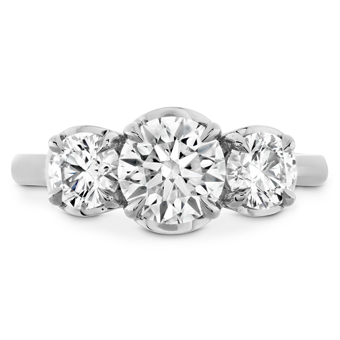 1.2 ctw. Juliette HOF Three Stone Semi-Mount in 18K White Gold