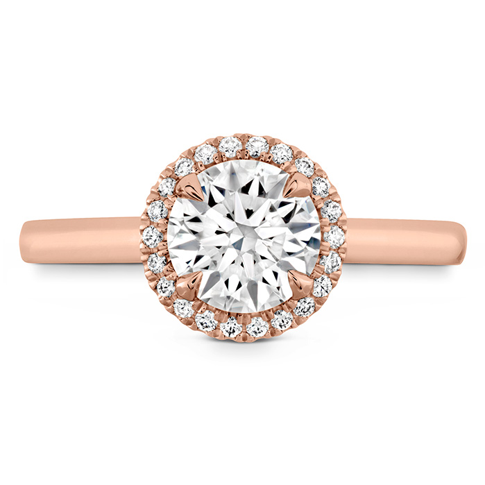 0.06 ctw. Juliette HOF Halo Semi-Mount in 18K Rose Gold