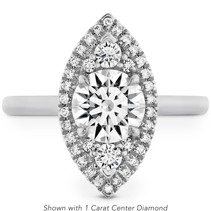 0.33 ctw. Juliette Marquise Halo Engagement Ring in 18K White Gold