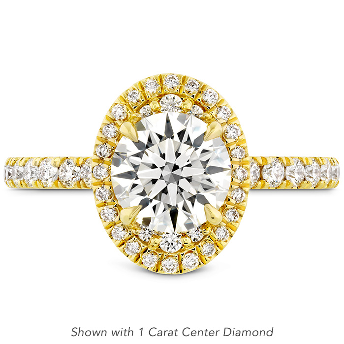 0.43 ctw. Juliette Oval Halo Diamond Engagement Ring in 18K Yellow Gold
