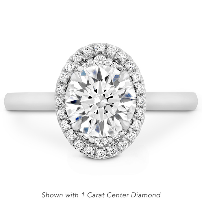 0.14 ctw. Juliette Oval Halo Engagement Ring in Platinum