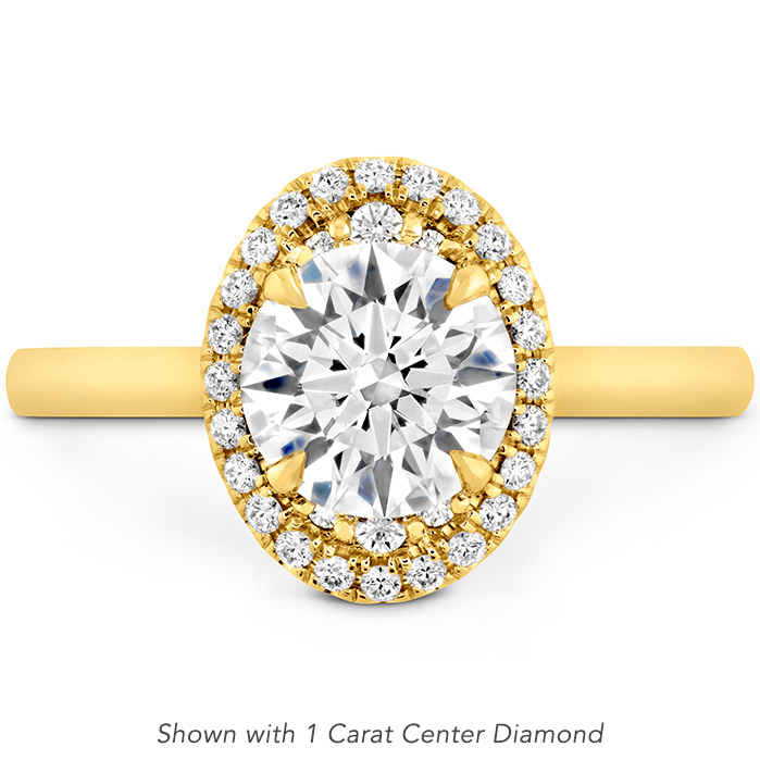0.15 ctw. Juliette Oval Halo Engagement Ring in 18K Yellow Gold