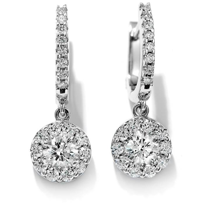 2 ctw. Fulfillment Diamond Drop Earrings in 18K White Gold