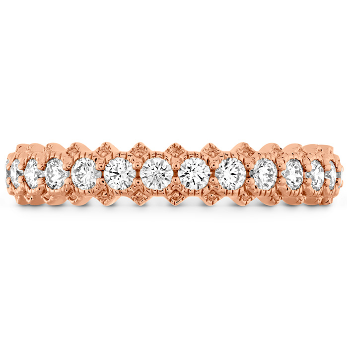 0.45 ctw. Liliana Bezel Milgrain Diamond Band in 18K Rose Gold