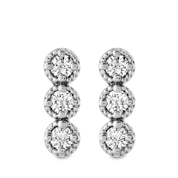 0.19 ctw. Liliana Milgrain Diamond Bar Earrings in 18K Rose Gold