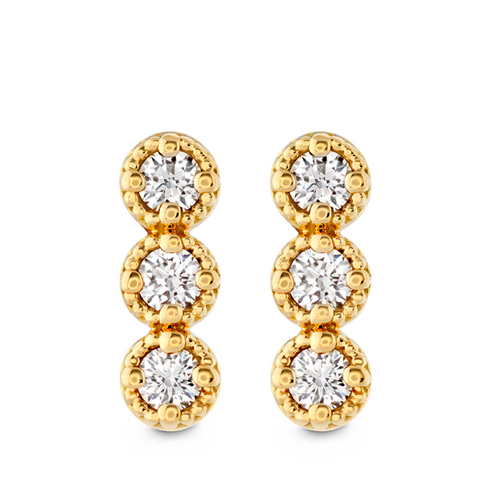 0.19 ctw. Liliana Milgrain Diamond Bar Earrings in 18K Yellow Gold