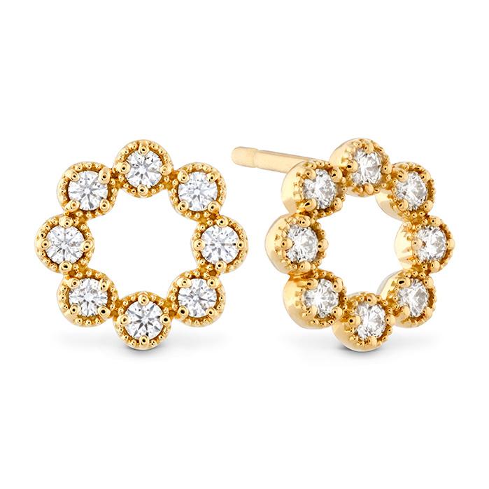 0.32 ctw. Liliana Milgrain Diamond Circle Earrings in 18K Yellow Gold