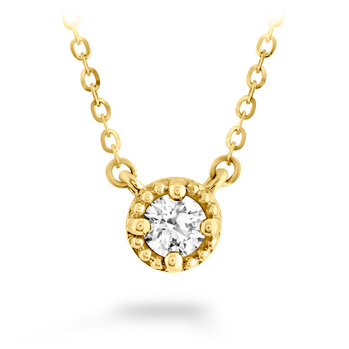 0.33 ctw. Liliana Milgrain Single Diamond Pendant in 18K Yellow Gold