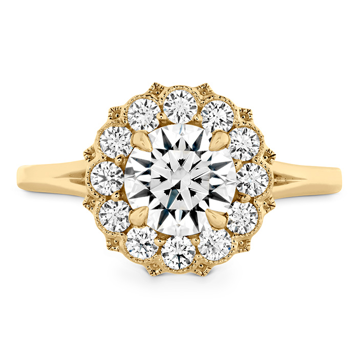 0.45 ctw. Liliana Halo Engagement Ring in 18K Yellow Gold