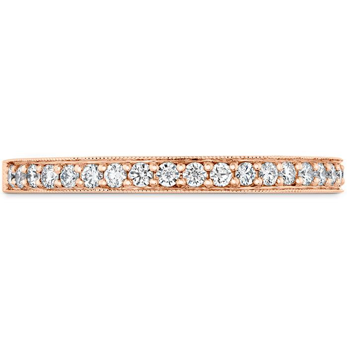 0.18 ctw. Liliana Milgrain Diamond Band in 18K Rose Gold