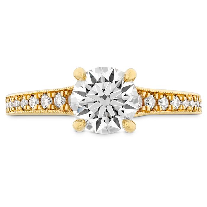 0.25 ctw. Liliana Milgrain Engagement Ring - Dia Band in 18K Yellow Gold