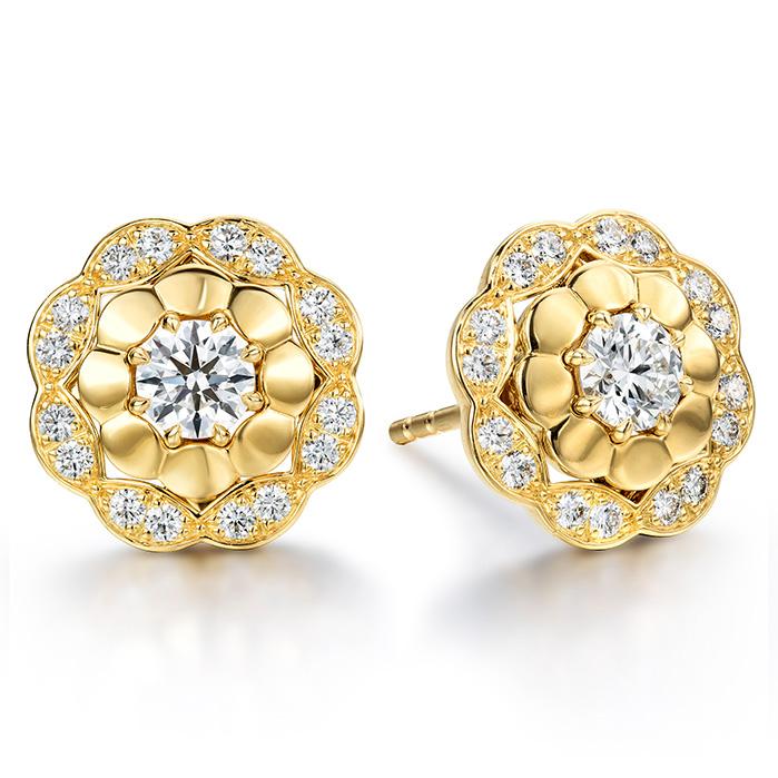 0.6 ctw. Lorelei Alternating Halo Stud Earrings in 18K White Gold