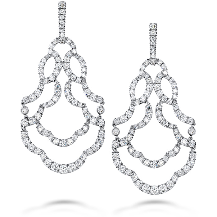 6.5 ctw. Lorelei Chandelier Diamond Earrings in 18K White Gold