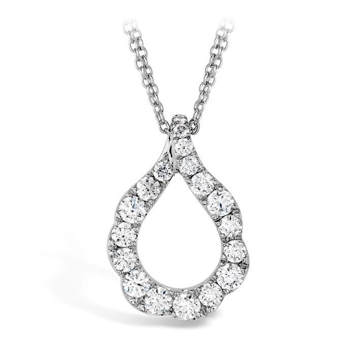 1 ctw. Lorelei Crescent Diamond Pendant in 18K Rose Gold
