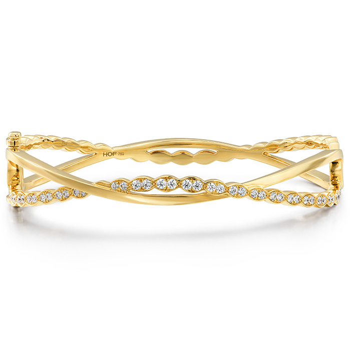 0.8 ctw. Lorelei Floral Twist Bangle in 18K Rose Gold