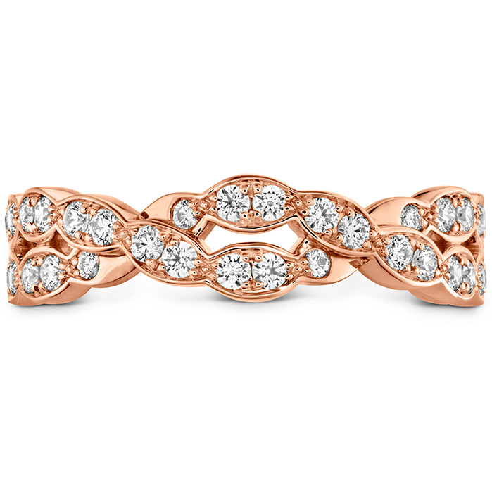 0.4 ctw. Lorelei Floral Dia Double Twist Band in 18K Rose Gold