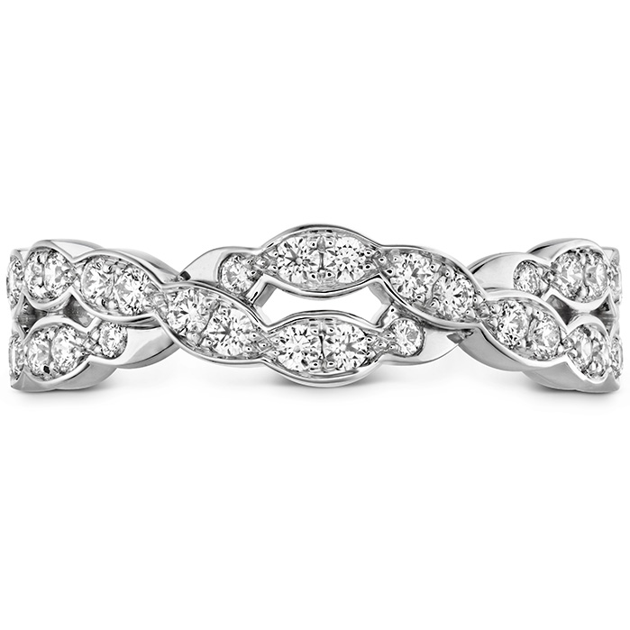 0.4 ctw. Lorelei Floral Dia Double Twist Band in 18K White Gold
