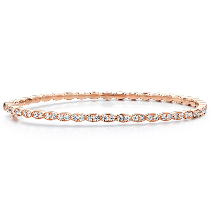 0.98 ctw. Lorelei Floral Diamond Bangle in 18K Rose Gold